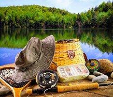 рыболовные снасти, рыбалка, природа